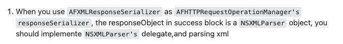 AFNetworking请求XML文件