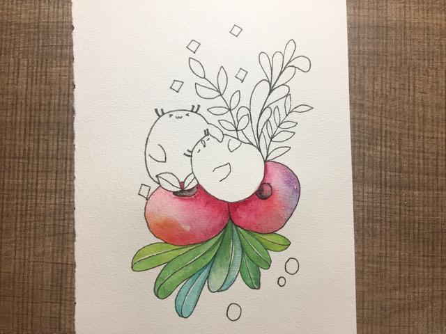 水彩插画教程:手把手教你怎么画出可爱的水彩画