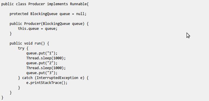 Java BlockingQueue(译)
